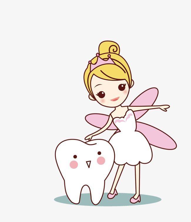 Tooth Fairy Cartoon Tooth Png And Vector Tooth Cartoon Dental Kids Dentist Cartoon