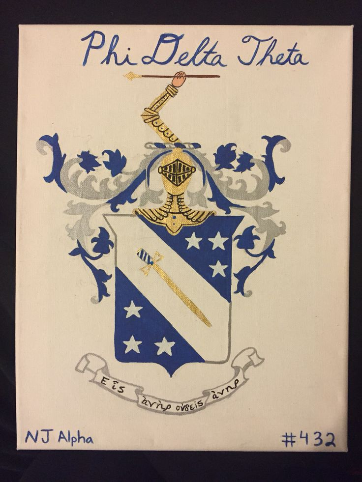 Phi Delta Theta Fraternity crest on canvas