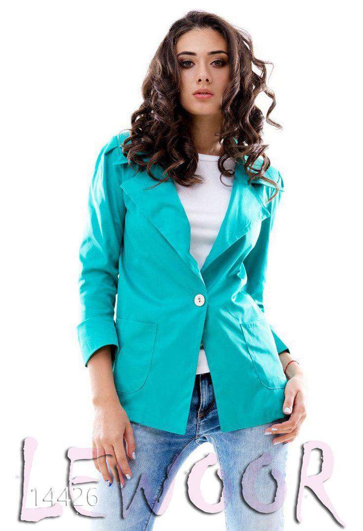 Прямой пиджак на одну пуговицу с карманами - купить оптом и в розницу, интернет-магазин женской одежды lewoor.com
