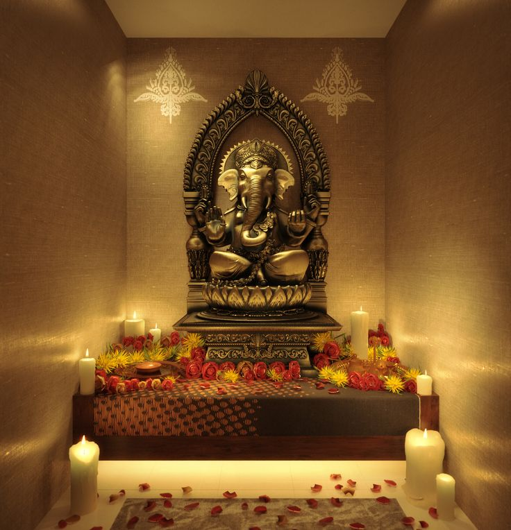 Puja Room- a place to withdraw from the world for prayer. The Spiritual heart of a home.