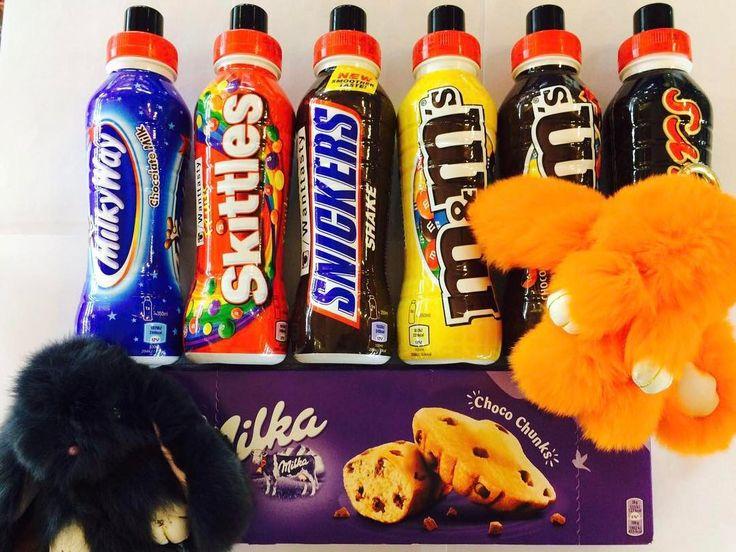 Ярких снов  коктейли со вкусами шоколадок 389 брелок кролик 790 кекс Милка Choco Chunks 210 #wanttasty