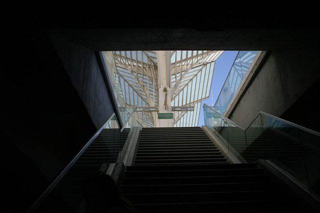 Portugal Lisbon Underground Stairs