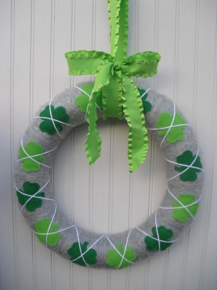 St. Patricks Day Wreath.{ATPitman on Etsy}