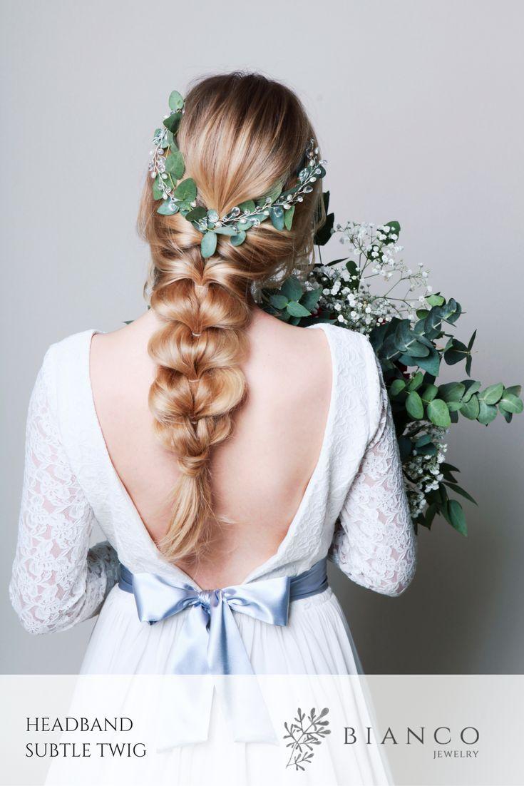 Opaska ślubna Subtle Twig / Wedding headband Subtle Twig  wedding inspiration hair inspiration wedding hairstyle boho wedding nature wedding
