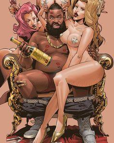 James Harden Party King Illustration