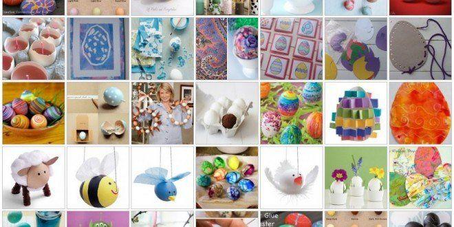 Lavoretti per Pasqua UOVA DECORATE - 30 e più progetti