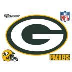 33 in. H x 50 in. W Green Packers Logo Wall Mural, Multi