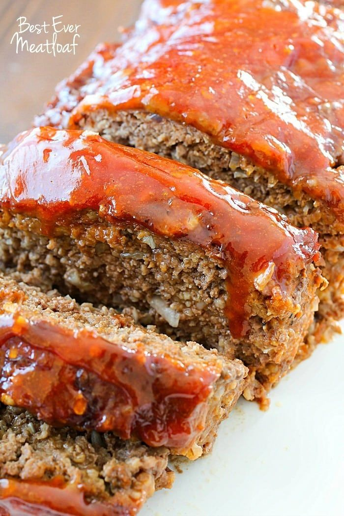This Meatloaf Recipe is my family's FAVORITE Sunday night dinner! So much flavor packed inside with a delicious glaze spread on the top!