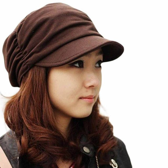 Fashion women winter hat Army Military Cap Flat -Top Hat Student Vintage Navy cap super quality Beanies Gorros Gorro #y