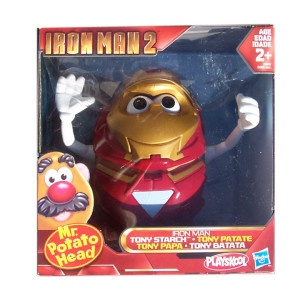 SR. CARA de PAPA IRON MAN  --  El inmortal señor Cara de Papa (Mr. Potato Head), tan reconocible por sus apariciones en Toy Story, hoy se viste de Iron Man.