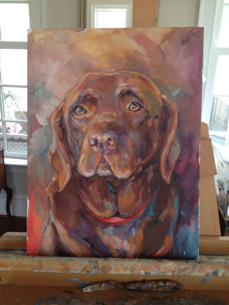 Home Goods Chocolate Lab Painting
