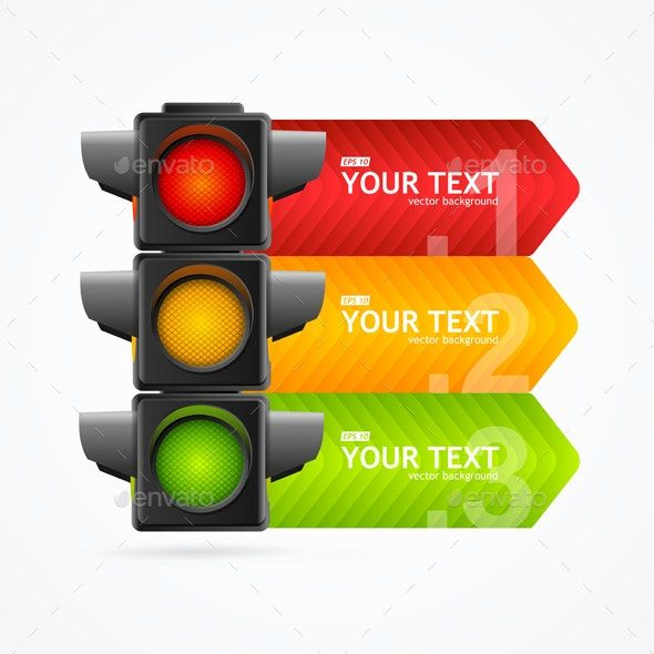 Detailed Road Traffic Light Banner Card Plaquinhas Divertidas Para Festa Divertido
