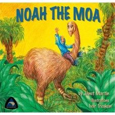 Noah the Moa. A young boy visits a Moa at the museum, and imagines what it would be like if Noah the Moa came back to life, taking him back into the past. Written in rhyme. Includes sheet music of song inside cover. A rhyming picture book by award winning New Zealand author Janet Martin with illustrations by Ivar Treskon. Made in New Zealand for ages 2-6.  See more at www.entirelynz.co.nz/gifts