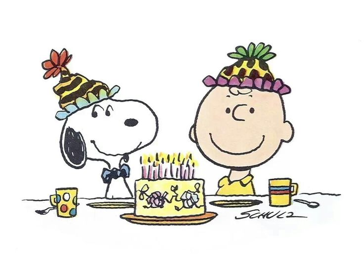 Snoopy and Charlie Brown birthday wishes