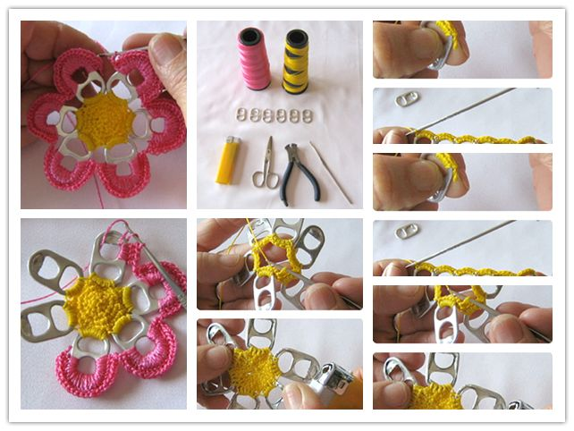 65 best diy recycled upcycled images on pinterest home ideas how to pretty flowers with recycle beer can pull tabs step by step diy tutorial instructions solutioingenieria Choice Image