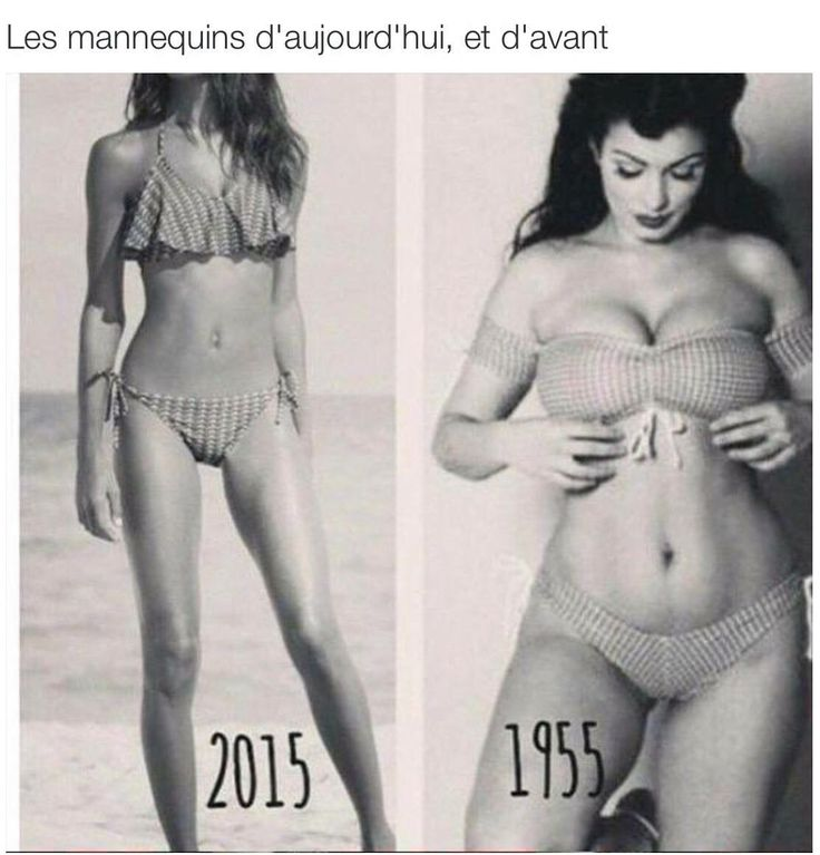 Si les critères de beautés et le mannequinat sont des choses qui ne me parlent pas du tout et pour lesquels j'ai peu d'intérêt, je trouve tout de même beaucoup plus séduisant le corps du mannequin de 1955.