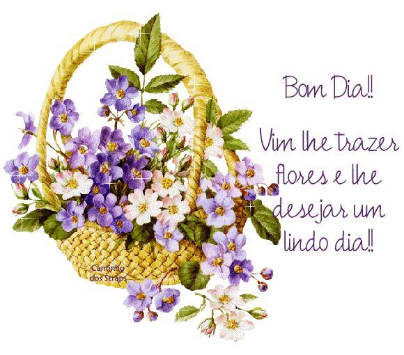 Imagens de Bom Dia - Bom dia com flores