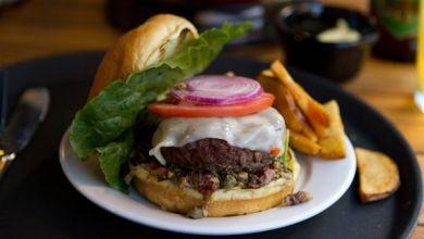 Muffaletta burger Back Deck, Boston | Fooducation & Restaurant Resou ...