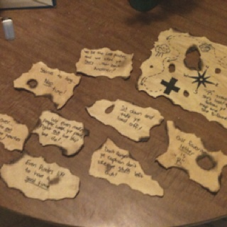 how to make a treasure map with clues