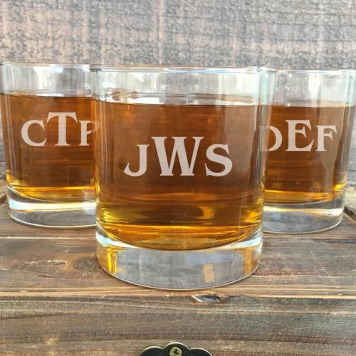 Our Personalized Rocks Glasses are Great Gifts for the Best man, Groom, Groomsmen, Ushers, and the Father of the Bride and Groom! Each Glass is 11oz, the Perfect Size for Your Favorite Whiskey. Our Monogrammed Whiskey Glasses are Engraved with Precision and You are Sure to Love Their Etched Finish!