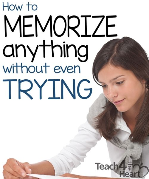 How to Memorize Anything Without Even Trying | Teach 4 the Heart Great memorization tips that make it easy to memorize.