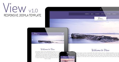 View - A light responsive #joomla #template #webdesign