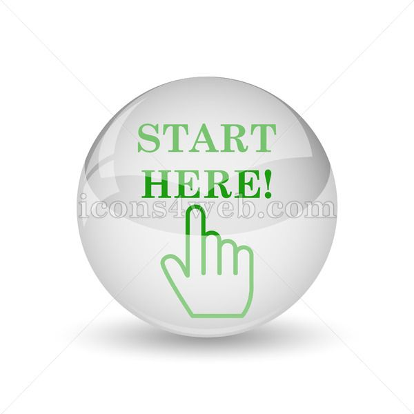 Start Here Glossy Icon Start Here Glossy Button Icon Royalty Free Icons Web Design
