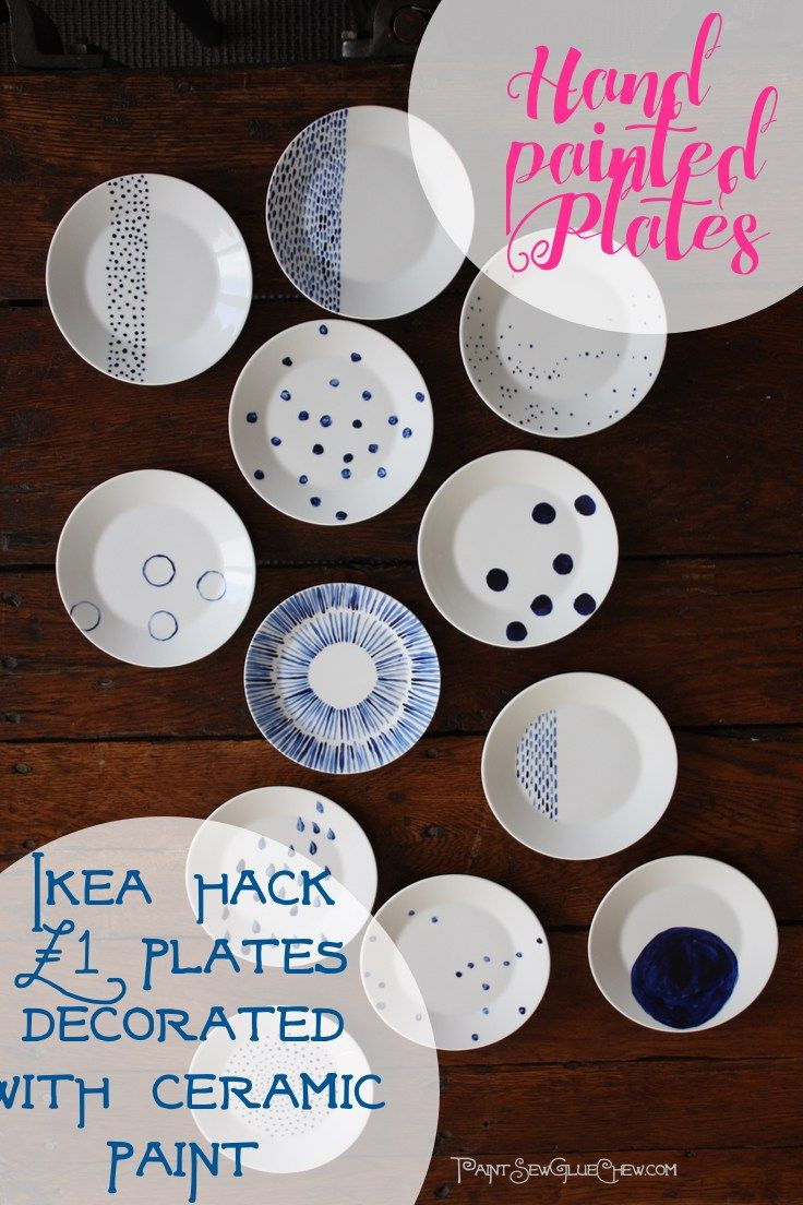 Hand Painted Plates Ikea Hack £1 each