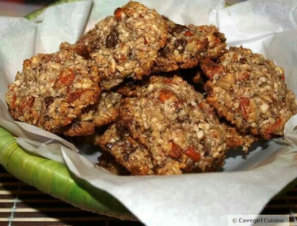 Chocolate Mint Goji Berry Cookies