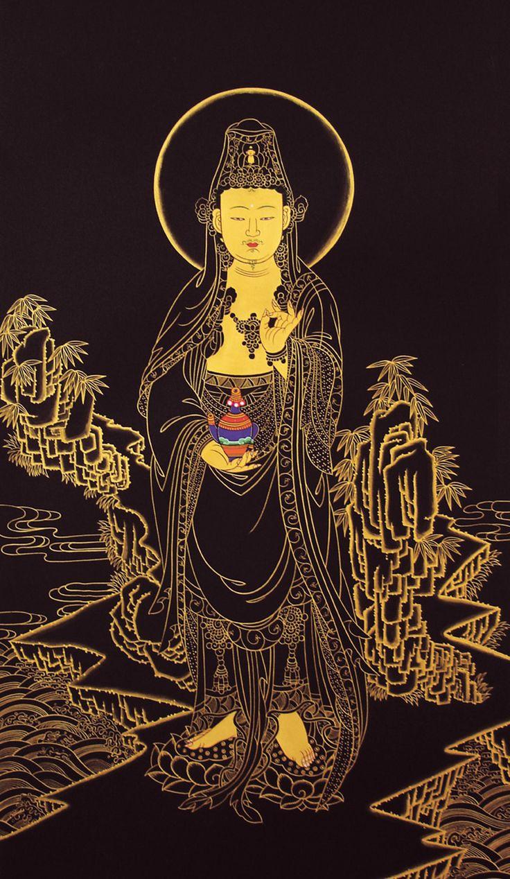 """Shuni mudra, the """"seal of patience"""". Bodhisattva Avalokitesvara"""
