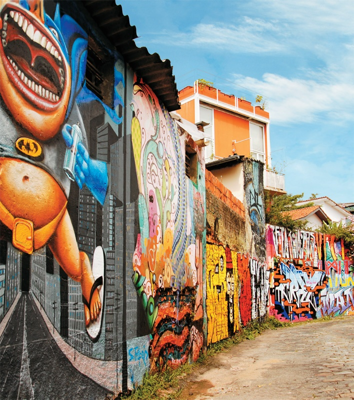 Beco do Batman, Vila Madalena, São Paulo