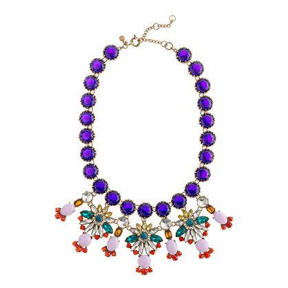 J.CrewCrystal color statement necklace