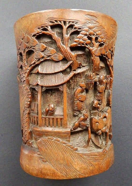 Best images about brushpots on pinterest carving