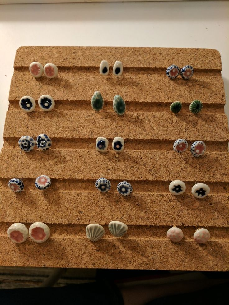 A sampling of my stud earrings.....by Boon Ceramics
