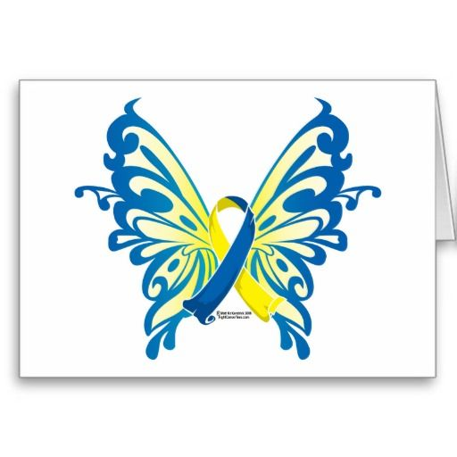Down Syndrome Butterfly Ribbon Greeting Card