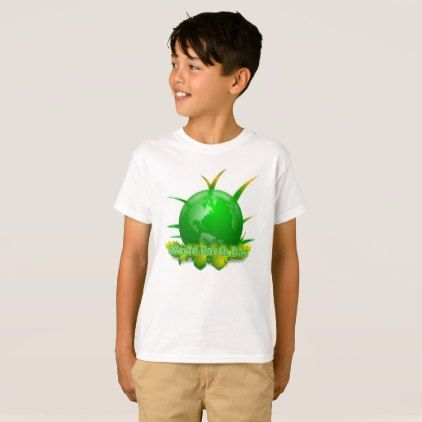 World Earth Day Earth Day T-Shirt - kids kid child gift idea diy personalize design