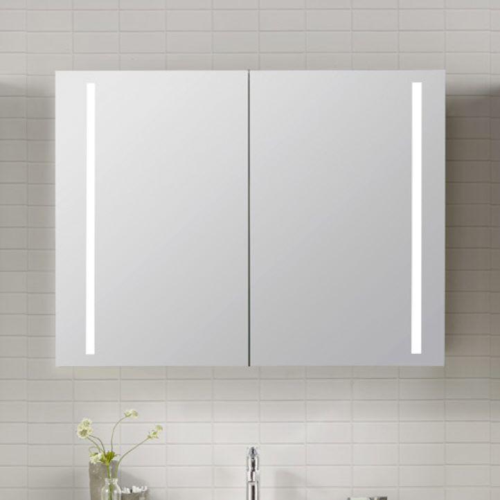 600 EUR. Architekt 400 Spiegelschrank 120 cm mit LED-Beleuchtung MBSC3721SPE - MEGABAD