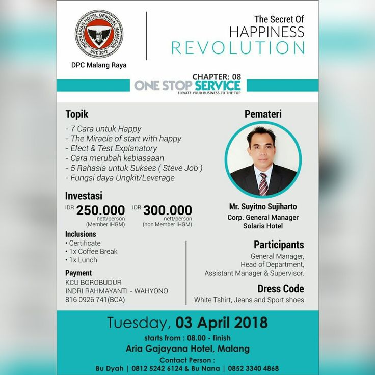 The Secret of Happiness Revolution – IHGM Events Series – IHGM