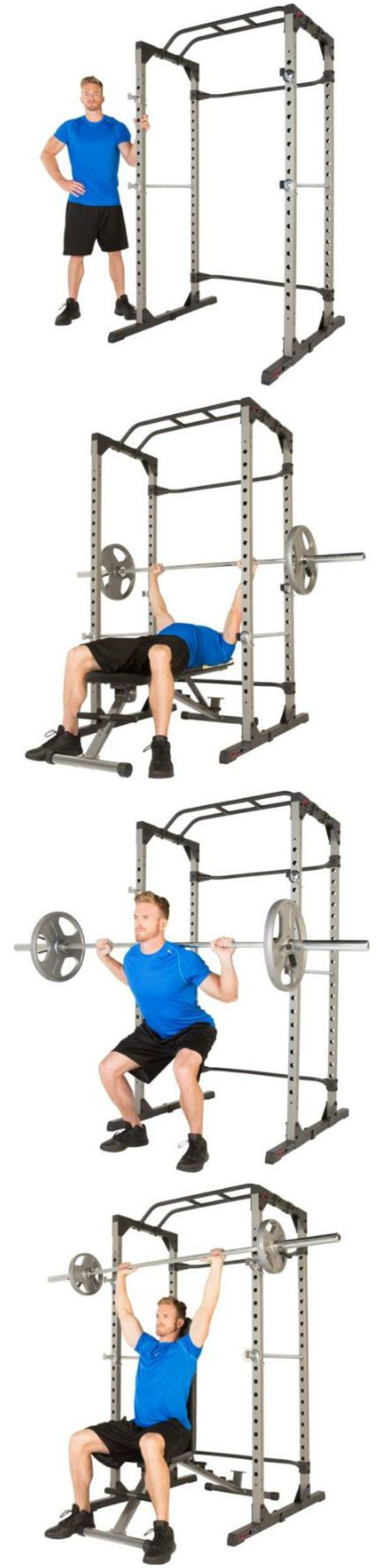 Power Racks and Smith Machines 179815: Squat Rack Power Cage Home Fitness Gym Machines Commercial Equipment Health Body -> BUY IT NOW ONLY: $279.99 on eBay!