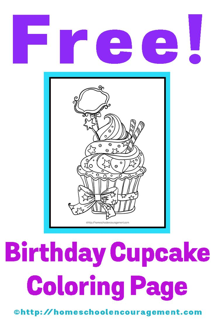 1000 images about printables cupcake color sheets on for Birthday cupcake coloring page