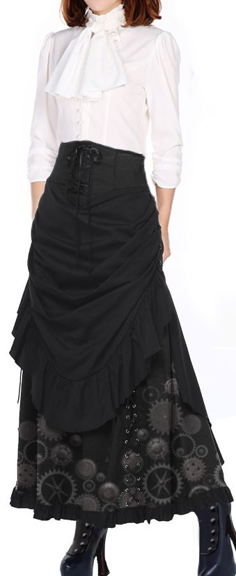 Victorian Steampunk Blouse and Skirt by  by Amber Middaugh