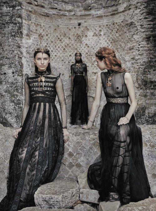 Sofia, Leila and Grace by Fabrizio Ferri Dresses: Valentino Haute Couture F/W 2015/16 Vogue Italia September 2015