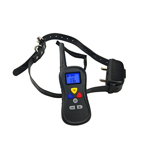 Fosinz Rechargeable and Waterproof Remote Control Trainer Three Training Modes Dog Training Collar with 16 Levels of Static and Vibration *** Read more reviews of the product by visiting the link on the image.(This is an Amazon affiliate link and I receive a commission for the sales)