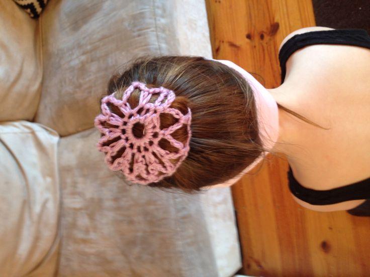 Crochet bun cover