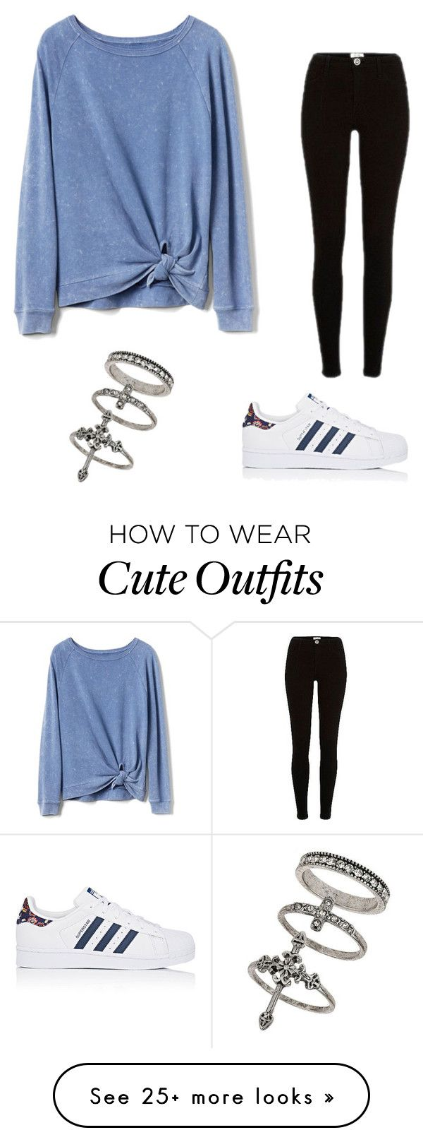 """Cute lazy day outfit"" by kekesheff on Polyvore featuring adidas, Gap, River Island and Miss Selfridge"