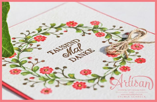 So In Love stamp set 2017 Occasions Catalogue and Sylwia's amazingly beautiful watercolouring turning a solid stamp into a work of art!
