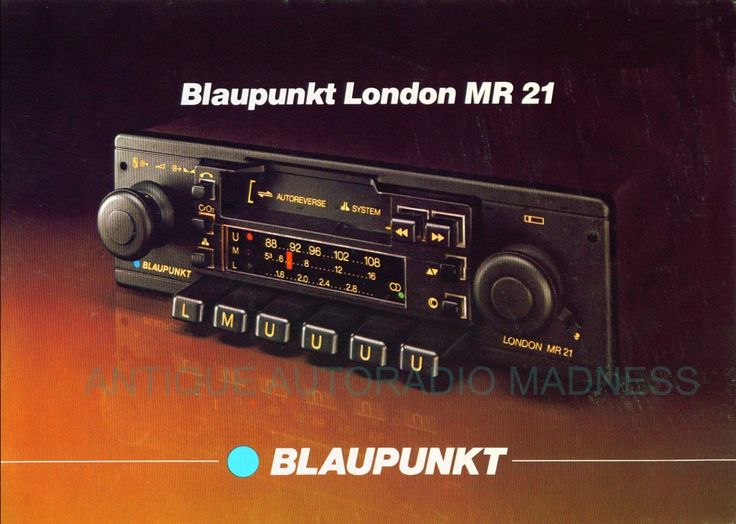 Blaupunkt London MR 21 1981 - similar to one of the Eurovox car radios released that year