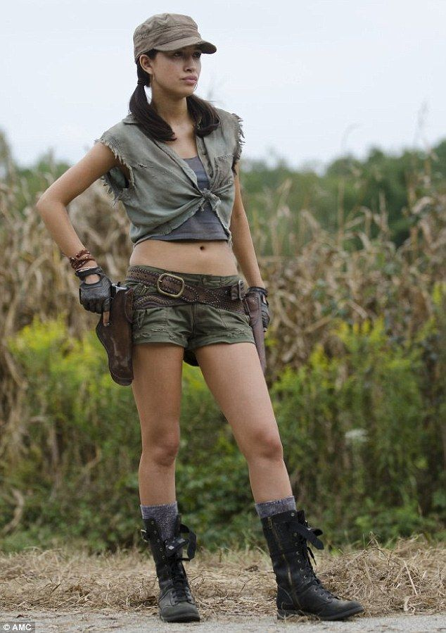 'You've done everything you can': But now The Walking Dead fans are left wondering what will happen to Christian's no-nonsense character Rosita Espinosa on the hit AMC show