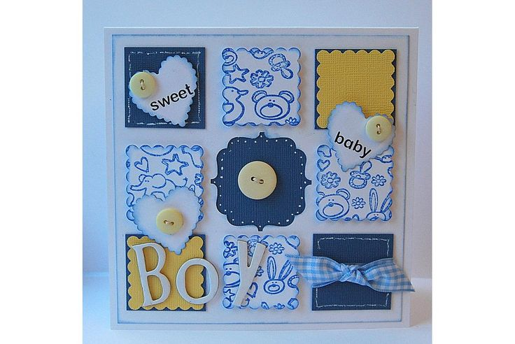 Yellow & Blue Baby Card