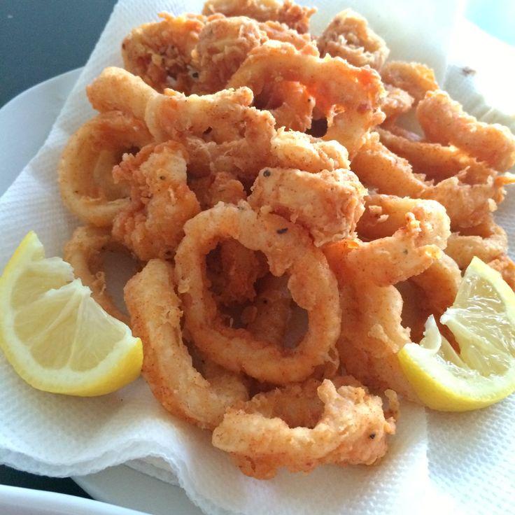 about Calamari Rings Recipe on Pinterest | Grilled Calamari, Calamari ...